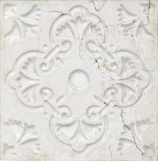 Aged White Ornato 20x20