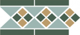 TopCer Octagon Border LISBON with 1 strip (Tr.13, Dots 18+03, Strips 18) 28х15