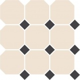Topcer Octagon TOPCER White OCTAGON 16/Black Dots 14 30x30