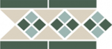 TopCer Octagon Border LISBON with 1 strip (Tr.16, Dots 13+18, Strips 18) 28х15