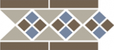 TopCer Octagon Border LISBON with 1 strip (Tr.01, Dots 29+11, Strips 29) 28х15